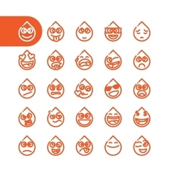 Set of emoji emoticons vector image