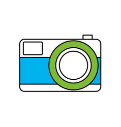 Silhouette color section of photo camera in vector