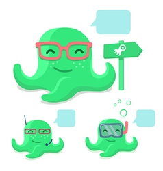 Smiling pretty octopus vector image
