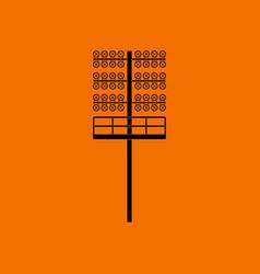 Soccer light mast icon vector