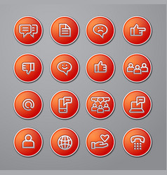 social media network icons vector image