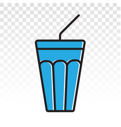 Soda beverage or fast food drink with a straw vector