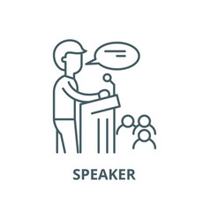 speaker line icon linear concept outline vector image