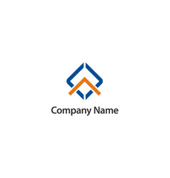 square construction business company logo vector image