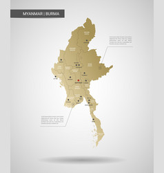 Stylized myanmar burma map vector