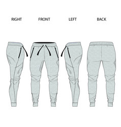 sweatpants template jogging pants mock up vector image