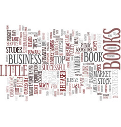 The most popular business books text background vector