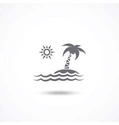 Tourism icon vector