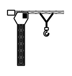 tower crane vector image
