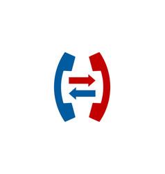 Transfer call logo icon design vector