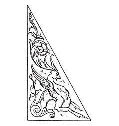 triangular panel is found at the stall of the vector image