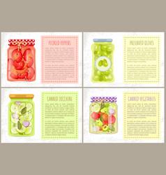 Vegetable foodstaff granny preparations poster vector