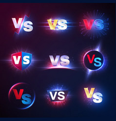 Versus emblems vs mma competition battle vector