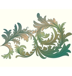 Vintage calligraphic detailed floral branch vector