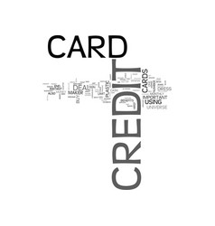 What is a credit card text word cloud concept vector