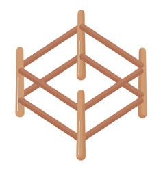 Wooden corral isolated icon vector