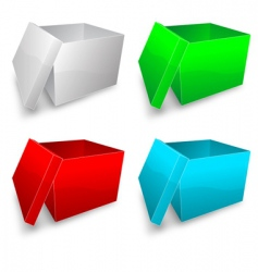 colored boxes vector image vector image