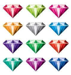 colorful diamonds vector image