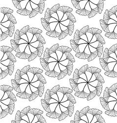 gingko leaf circle seamless pattern white vector image vector image