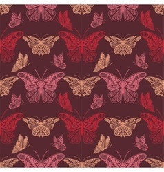 Seamless background with butterflyes vector image