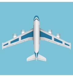 A airplane top view vector image vector image