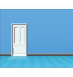 empty blue room vector image vector image