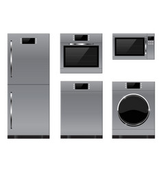 household appliances refrigerator oven vector image