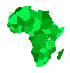 Africa contour map vector image vector image