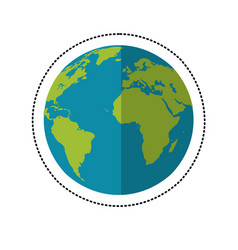 Earth planet space shadow vector