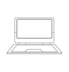 laptop computer device technology digital vector image