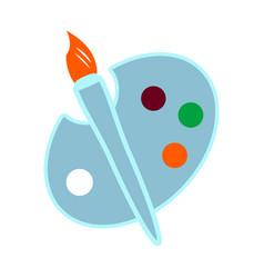 palette icon color design vector image