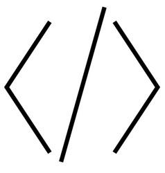 brackets code coding development html icon vector image