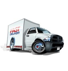 Cartoon delivery cargo truck vector image