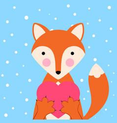 cartoon valentine day - funny cute vector image vector image