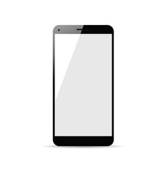Cellphone in black color vector
