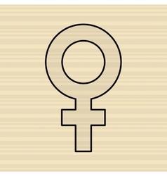 female symbol design vector image
