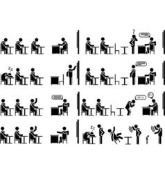 ICONS MAN SCHOOL vector image