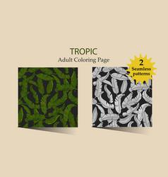 seamless pattern with tropical banana vector image vector image