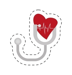 stethoscope instrument heart examination vector image