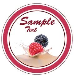 strawberries blackberries milk vector image