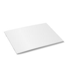 white mock up of magazine isolated vector image