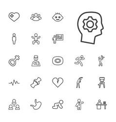 22 human icons vector