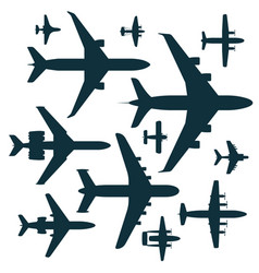 airplane silhouette aircraft vector image