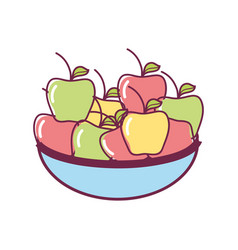 Apples fresh tural food vector