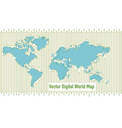 Background digital world map vector