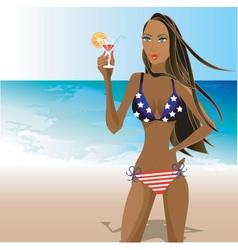 beach bikini vector image