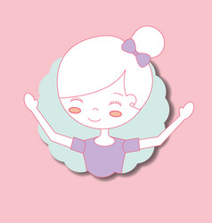 beautiful ballerina ballet portrait character vector image