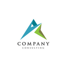 best letter a logo concept vector image