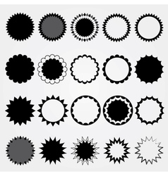 Black price tags collection Different styles vector image