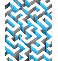 Black white and blue maze labyrinth endless vector